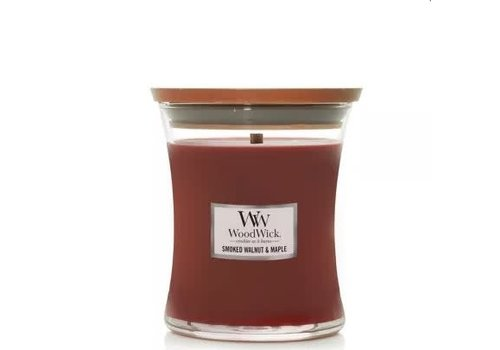Woodwick Smoked Walnut and Maple Hourglass Candle