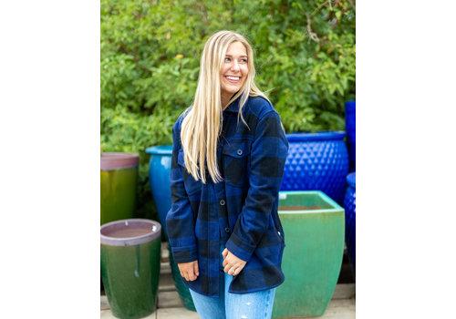 RD Style Jessica Brushed Plaid Jacket