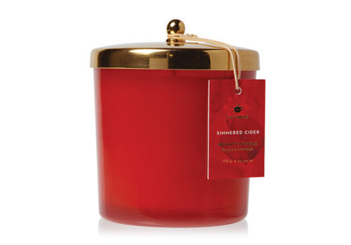 Thymes Candle With Sleeve Harvest Red Simmered Cider