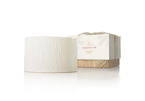 Thymes Gilded Ceramic Poured Candle 3-Wick Frasier Fir