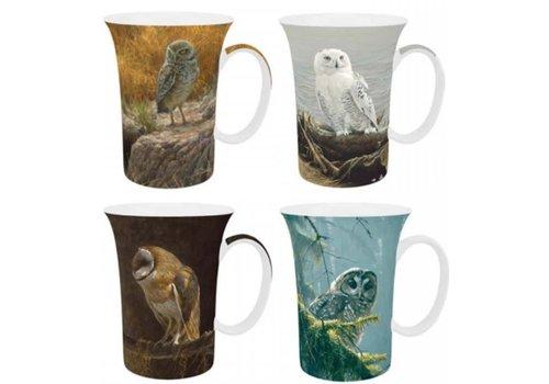 Bateman Owls Set of 4 Mugs