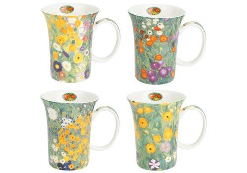 Klimt Flower Garden Set of 4 Mugs