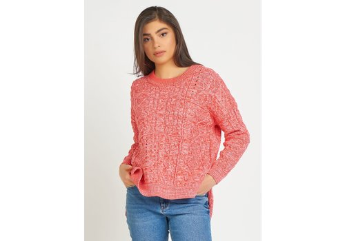 Dex Cable Knit Tunic Sweater