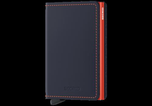 SECRID Slim Wallet Nightblue and Orange
