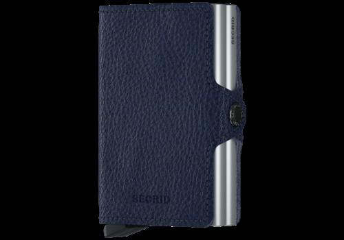 SECRID Twin Wallet Veg Navy-Silver