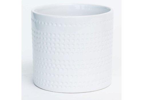 """Shiny White Dolomite Pot 4.5"""""""