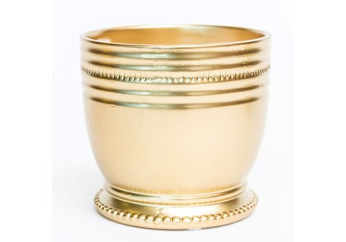 """Gold Plated Round Pot 4"""""""