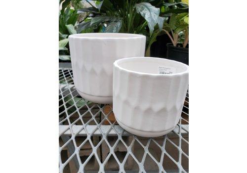 """Matte Dolomite Pot White 6.5""""x5.5"""""""