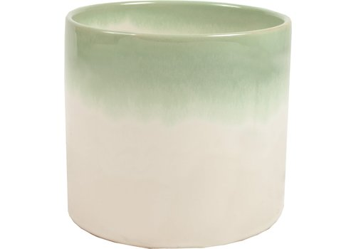 "Reykjavik Green Reactive Glaze Pot 6.5""x6"""