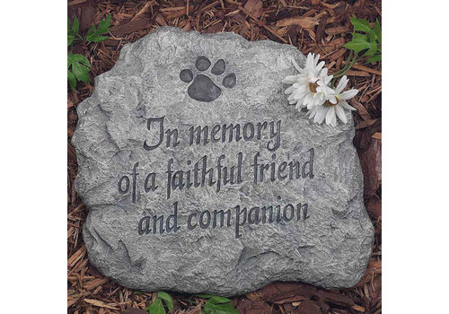 Evergreen Stepping Stone In Memory of a Faithful Friend