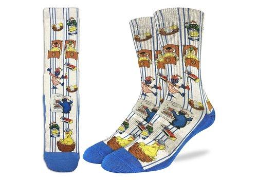 Good Luck Sock Men's Vintage Sesame Street Socks
