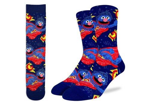 Good Luck Sock Men's Super Grover, Sesame Street Socks