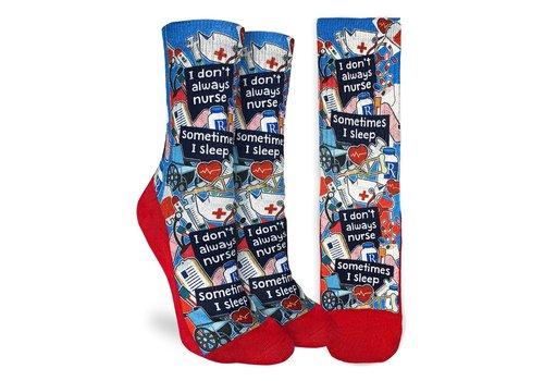 Good Luck Sock Women's I Don't Always Nurse Socks
