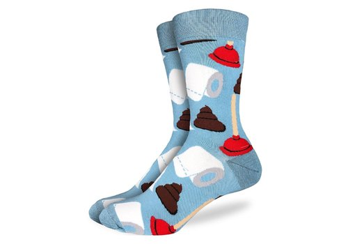 Good Luck Sock Men's Poop & Plungers Socks