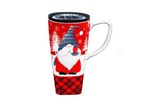Ceramic FLOMO 360 Travel Cup Winter Gnome 17oz