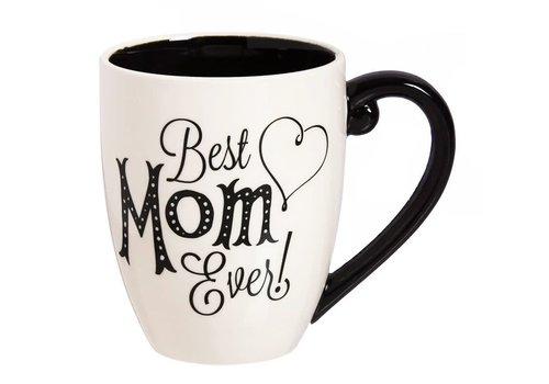 Mom Black Ink Ceramic Cup O'Joe With Box 18oz