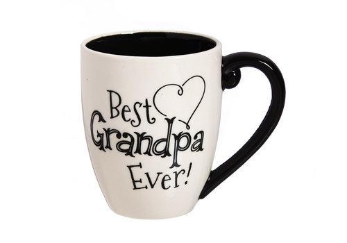 Grandpa Black Ink Ceramic Cup O'Joe With Box 18oz