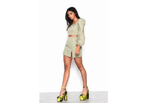 Glamorous Checkered Top