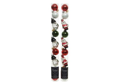 Shiny Figurine and Bauble Mix Tube of 9