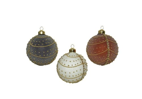 Glitter Dots and Lines Bauble