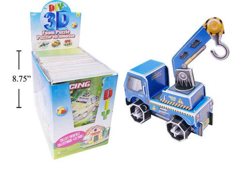 3D Foam Puzzle Construction Truck