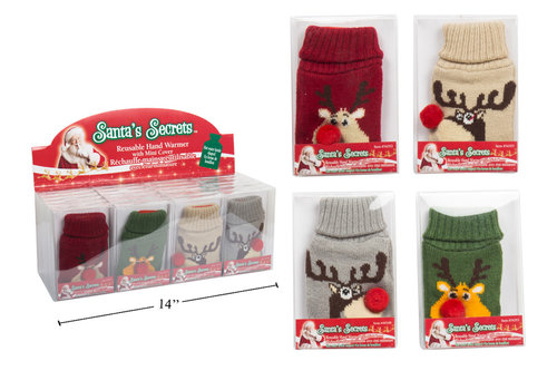 Santa's Secrets Bottle Shaped Reindeer Hand Warmer