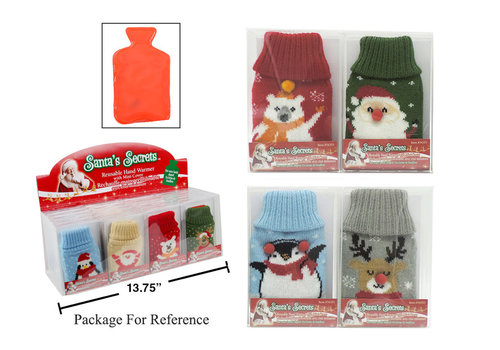 Bottle Shaped Hand Warmer With Knitted Cover