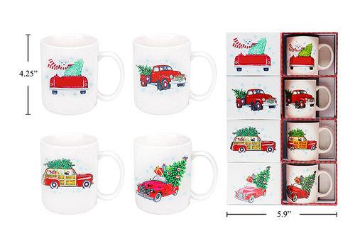 Ceramic Christmas Truck Design Mug