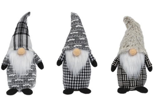 Plaid Stuffed Gnomes Figurine