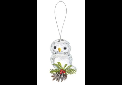 Teeny Owl Pinecone Ornament
