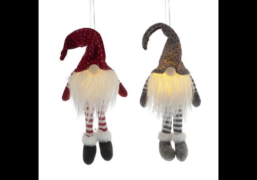 LED Plush Gnome Ornament