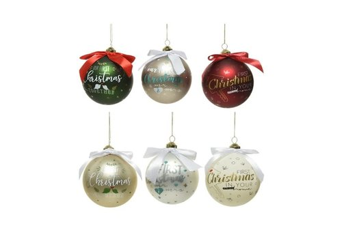 Gift Bauble First Christmas Assorted