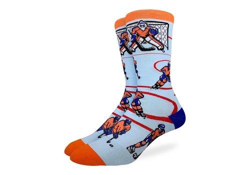 Good Luck Sock Men's Hockey, Orange and Blue Socks
