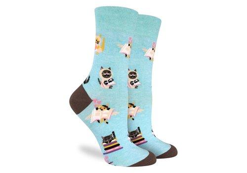 Good Luck Sock Women's Reading Cats Socks