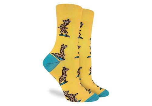 Good Luck Sock Women's Yoga Giraffe Socks