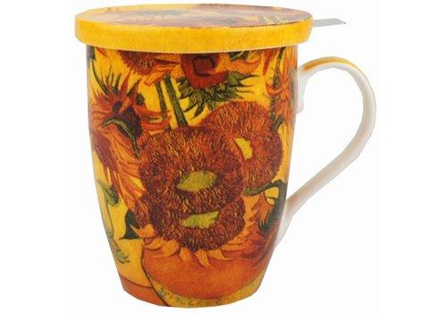 Mug With Lid Van Gogh Sunflowers