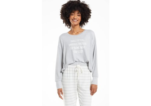 Z Supply Lina Smile Long Sleeve Top