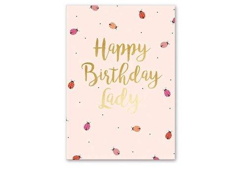 Greeting Card Ladybug Birthday