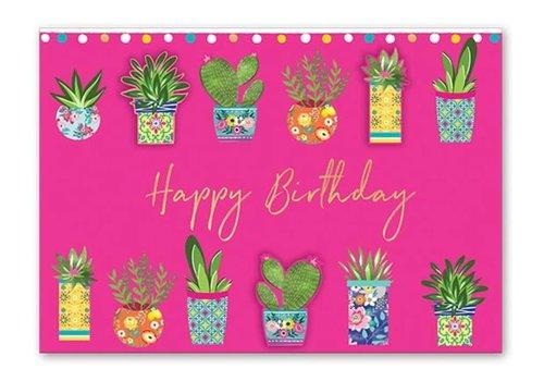 Greeting Card Cactus Pots
