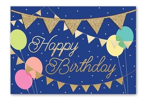 Greeting Card Happy Birthday Banner