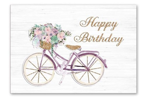 Greeting Card Floral Bike Birthday