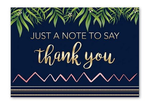 Greeting Card Tropical Thank You