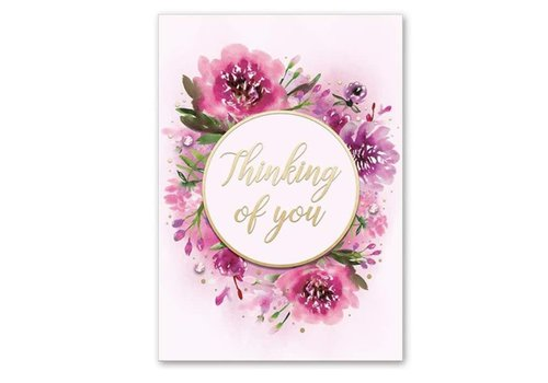 Greeting Card Fuchsia Floral Toy