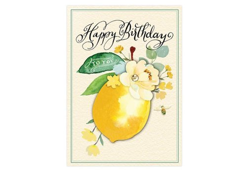 Greeting Card Happy Birthday Sweet Lemon