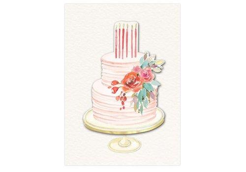 Greeting Card Happy Birthday Pink Cake