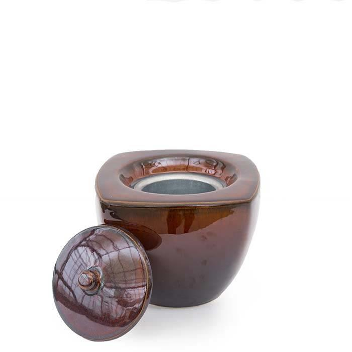Fire Pot Square Emerge Brown Mini