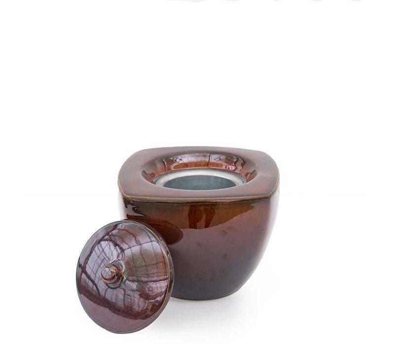 Fire Pot Square Emerge Brown Mini