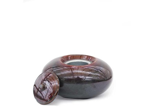 Fire Pot Pebble Emerge Brown Mini