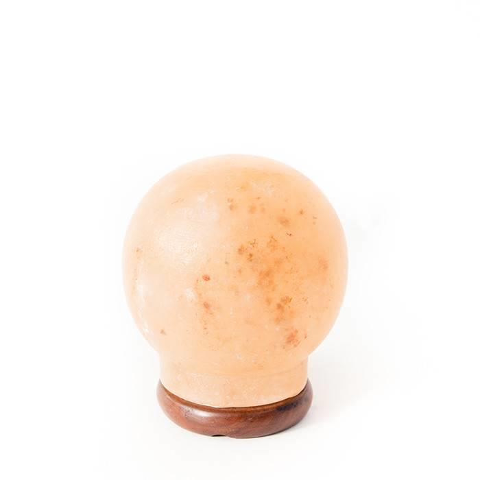 Himalayan Salt Lamp Globe Coral Pink