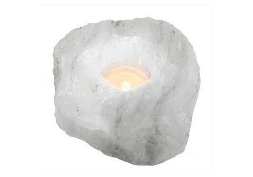 Relaxus Products Himalayan White Salt Tea Light Holder